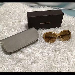 GIORGIO ARMANI gold sunglasses